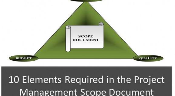Project Management Scope Document principles diagram