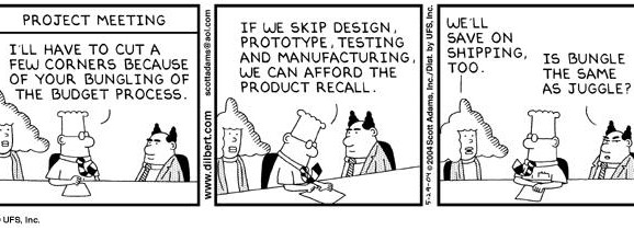 dilbert comic strip about budgeting
