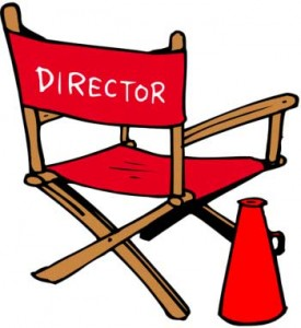 illustration of director chair