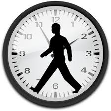 silhouette of man in a clock